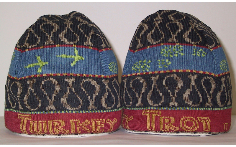 fd8f3aedbd5 Chamber Director Jeff Bacon expects the Turkey Trot beanies to be big hits.